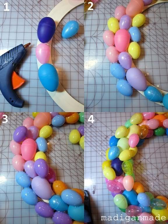 Easter egg wreath @keifu Gillis @B R O O K E // W I L L I A M S Schneider -- spring craft night?? ;)