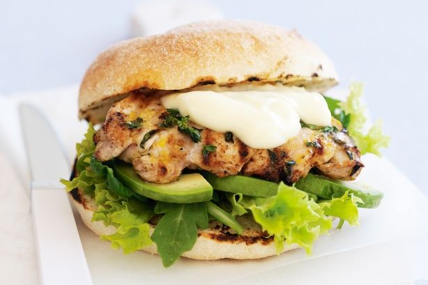 Serve grilled chicken thigh fillets on Turkish bread rolls with a tasty filling and everyone will be asking for more!