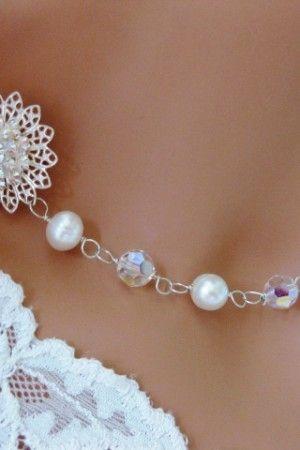 11 best images about best necklace for v neck wedding for Necklace for v neck wedding dress