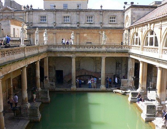 Fancy a dip at the Roman Baths at Bath?