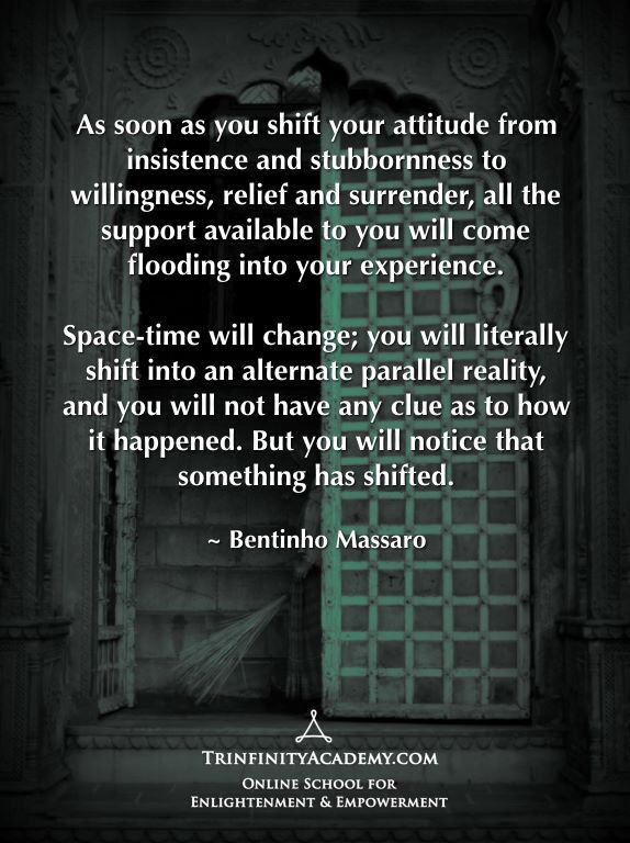 Bentinho Massaro - Shift Your Attitude - Shift Into an Alternate Parallel Reality - Inspirational Quotes - 14-day free trial https://www.trinfinityacademy.com