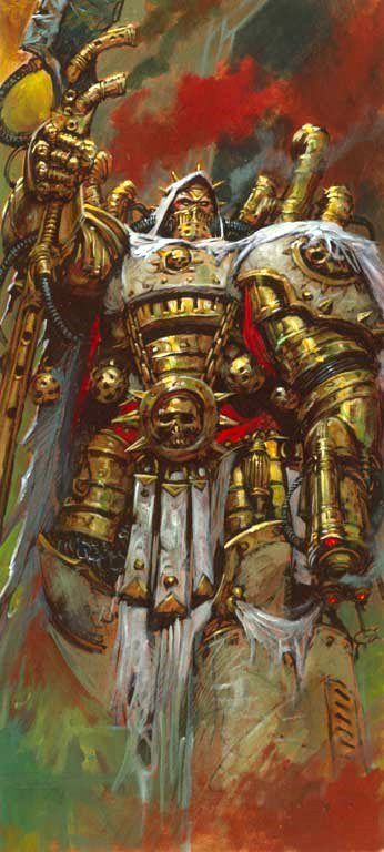 Mortarion, Primarch of the Death Guard Legion before the Horus Heresy wielding his massive scythe Silence and his sidearm known as The Lante...