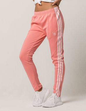 9defad37548 ADIDAS SST Pink Womens Track Pants | Fitness Clothes | Adidas dress ...