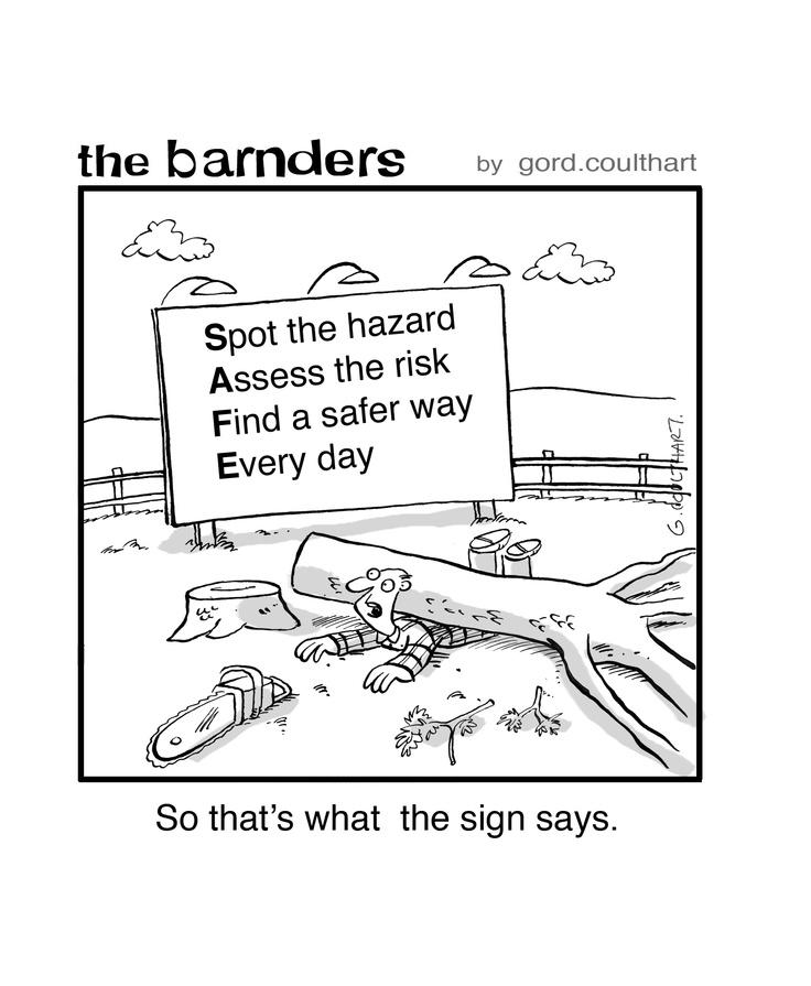 Spot the hazard assess the risk find a safer way for Gardening risk assessment