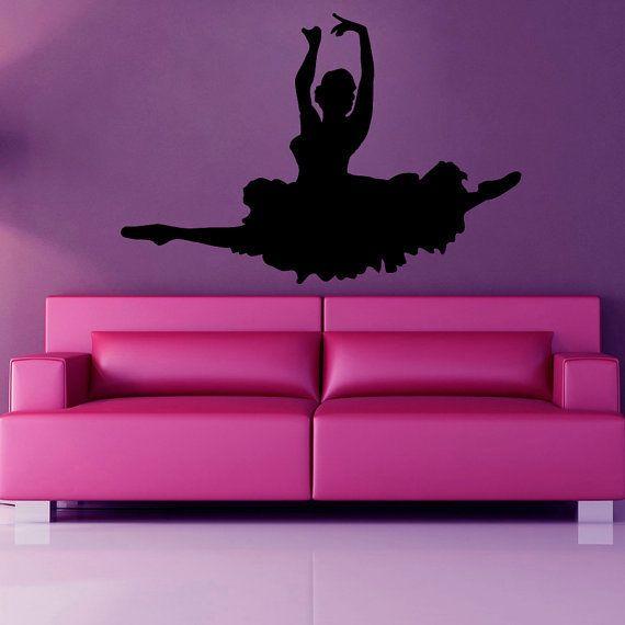 Girl Ballerina Dance Decals Wall Decor Vinyl Art Wall Decor Girl Bedroom  Sticker Decal size 48x65. 17 Best ideas about Girls Dance Bedroom on Pinterest   Girls