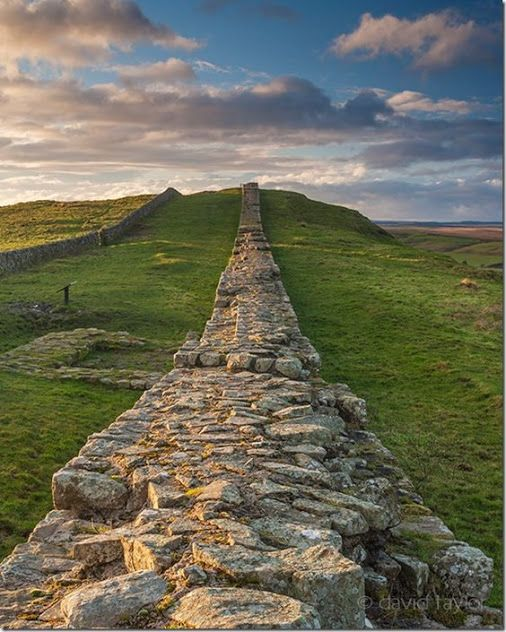 A stretch of Hadrian's Wall near Caw Gap in the Northumberland National Park England...... #Relax more with healing sounds: