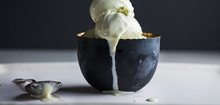 "When we first saw ""cucumber ice cream"" on a menu, we weren't convinced. But Miles Thompson of Allumette in L.A. converted us to the cool, creamy flavor. Get the recipe here."