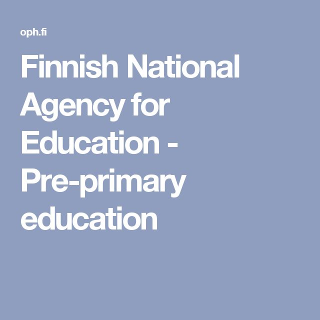 Finnish National Agency for Education - Pre-primary education