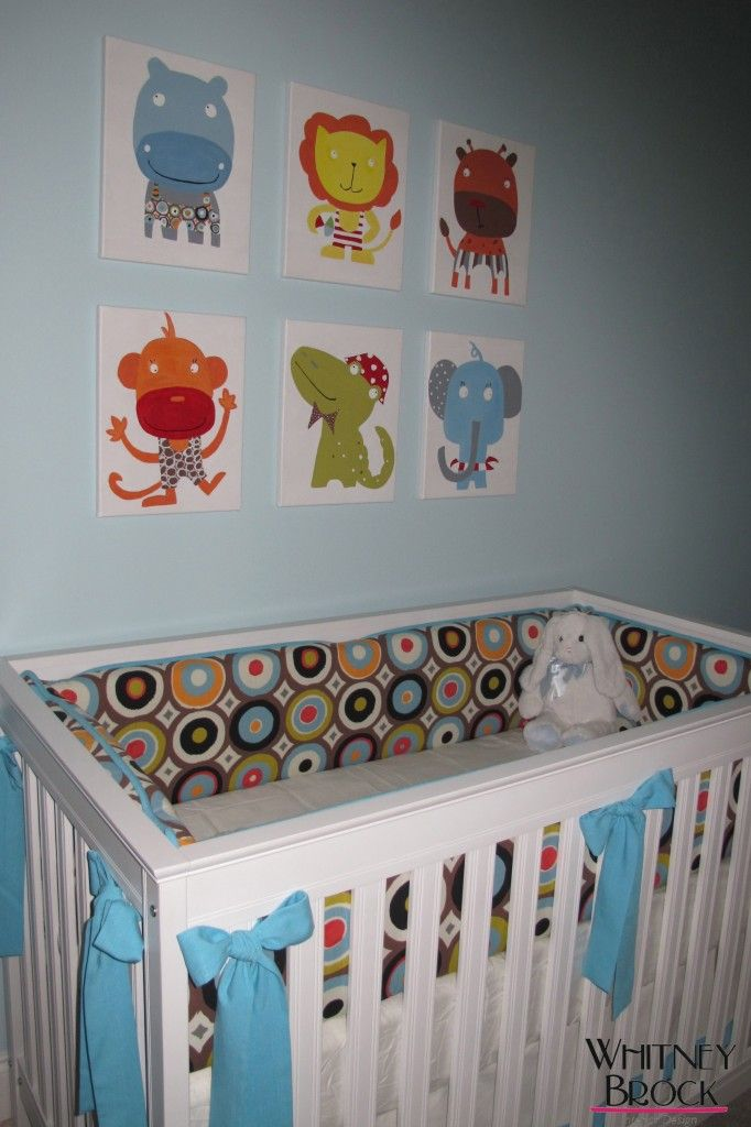 Animal Wall Art! This would be cute in Gavin's room with the matching animals from his bedroom set.