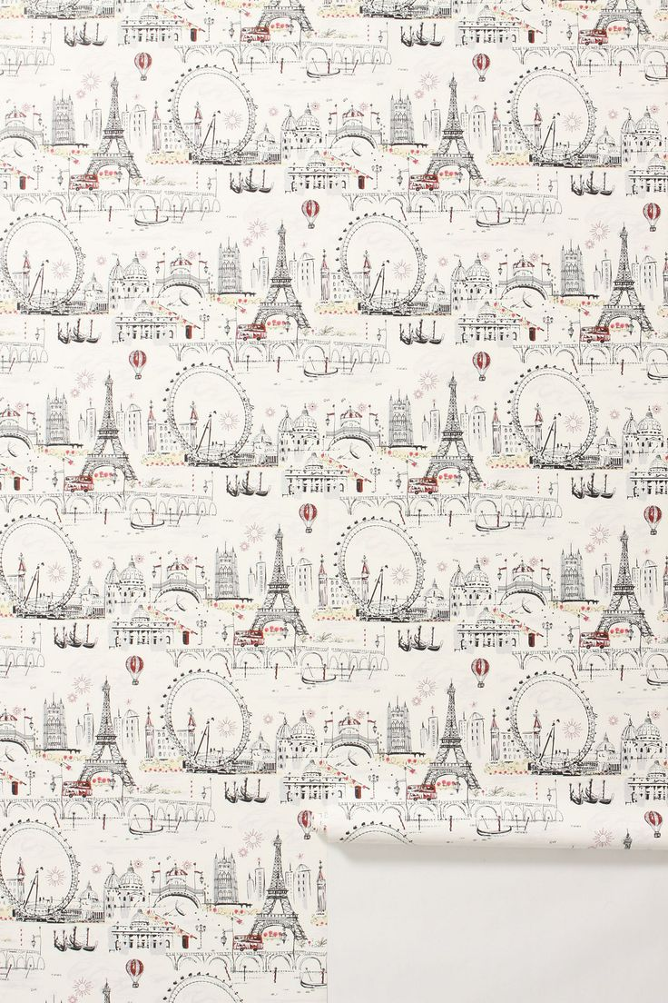 "C'est Magnifique Wallpaper - Anthropologie.com  ""This wallpaper has me dreaming of Paris.  This will go perfect with my Enchanted Forest bed and lovely duvet cover""  #Anthropologie  #PinToWin"
