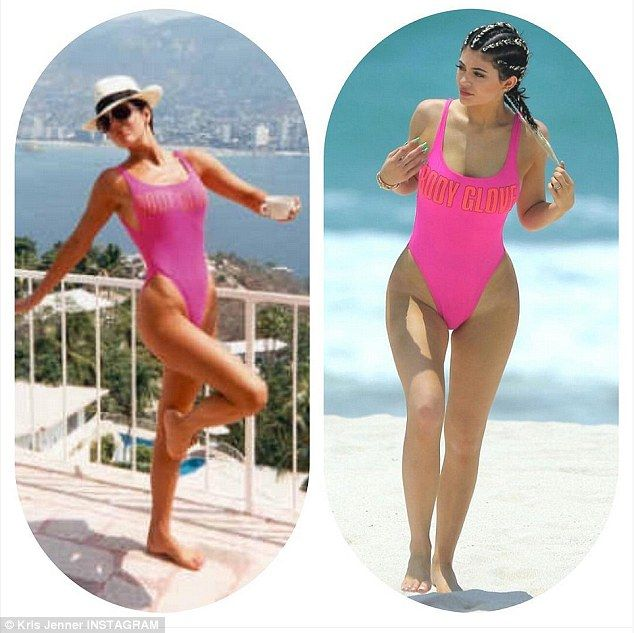 Who wore it better? Kris joked about her daughter taking to the beach in the same swimsuit...