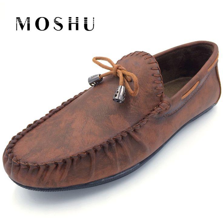 Design Summer Men Flats Slip On Leather Shoes Male Fashion Driving Shoes Mocassins Men Casual Shoes Chaussure Homme #Affiliate