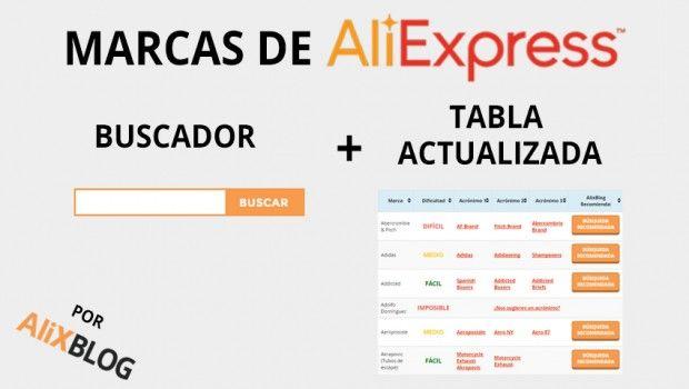 Buscador marcas AliExpress