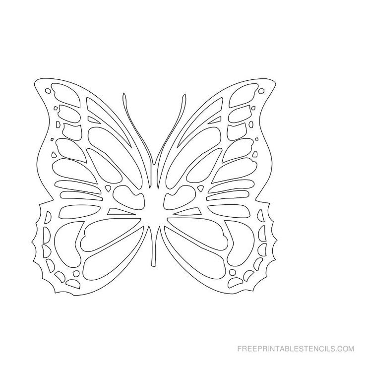 Free Printable Butterfly Stencils | Free Printable Stencils Com