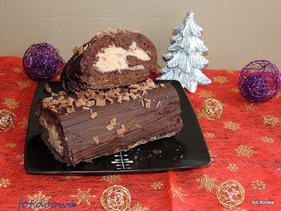 Moje Małe Czarowanie: Rolada czekoladowa z kremem kasztanowym