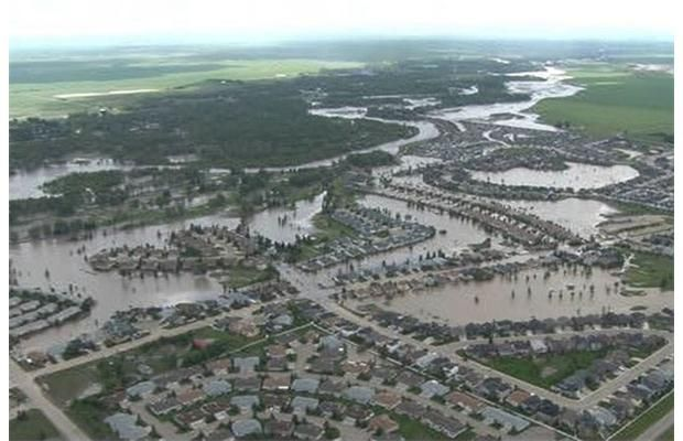 RCMP released these aerial images of the town of High River, taken on June 22, 2013. Mounties continue going door-to-door in the area to check on residents. Photograph by: Supplied, RCMP