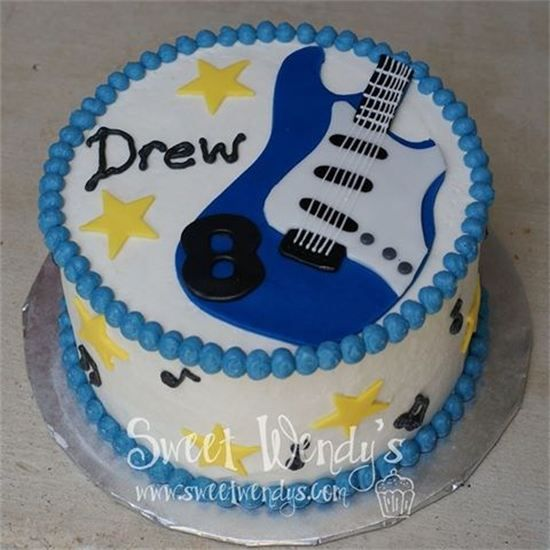 Guitar Shaped Birthday Cake Images : 25+ best ideas about Guitar birthday cakes on Pinterest ...