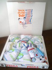 Pizza diapers -  - Gift for new dad