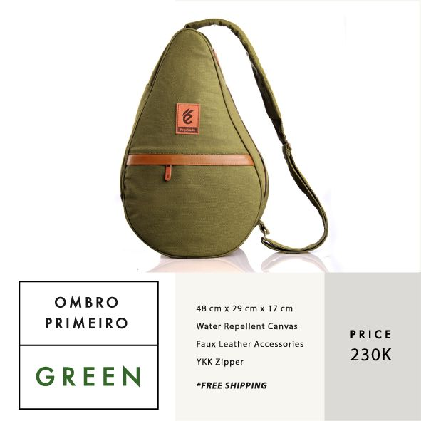 OMBRO PRIMEIRO GREEN  IDR 230.000  FREE SHIPPING ALL OVER INDONESIA    Dimension: 48 cm x 29 cm x 17 cm 23 Litre   Material: High Quality Canvas WR Faux Leather Accessories Leather Accessories YKK Zipper  #GoodChoiceforGoodLooking