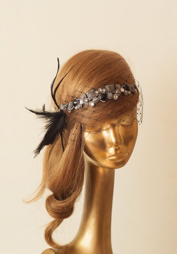 BIRDCAGE VEIL. Black Veil .Romantic Wedding Headpiece by ancoraboutique, $125.00