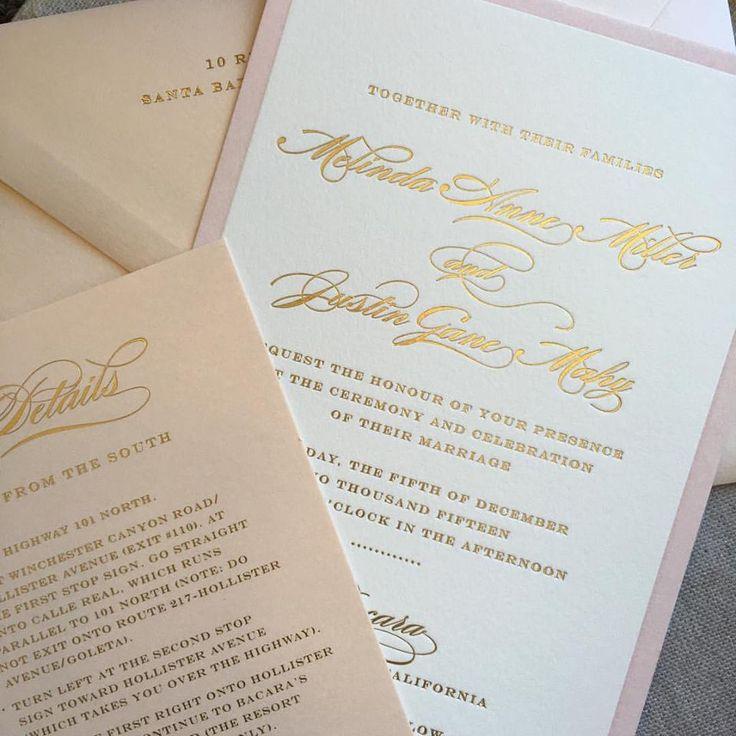 Alice Louise Press combined gold foil letterpress