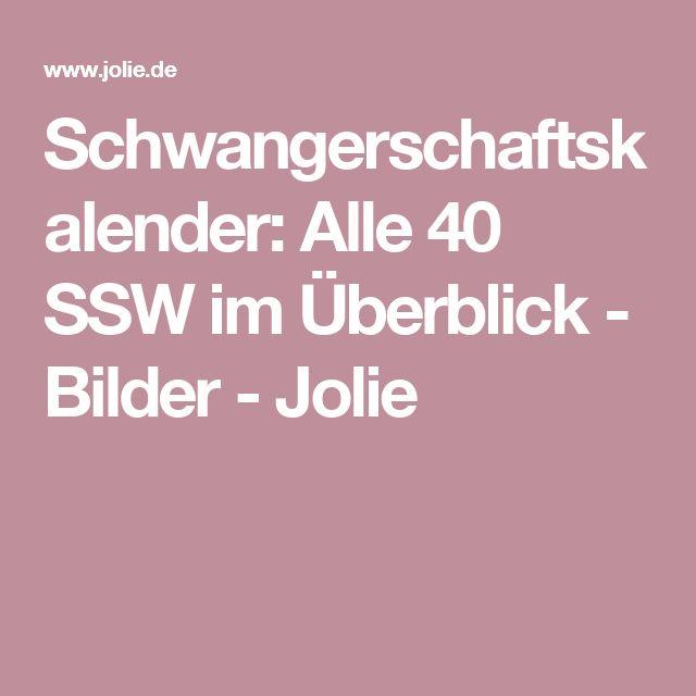 Schwangerschaftskalender: Alle 40 SSW im Überblick - Bilder - Jolie