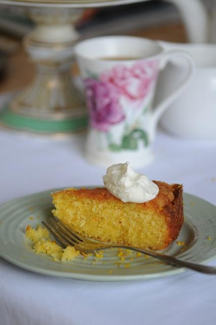 Orange and Amaretto Polenta Cake-almond-polenta