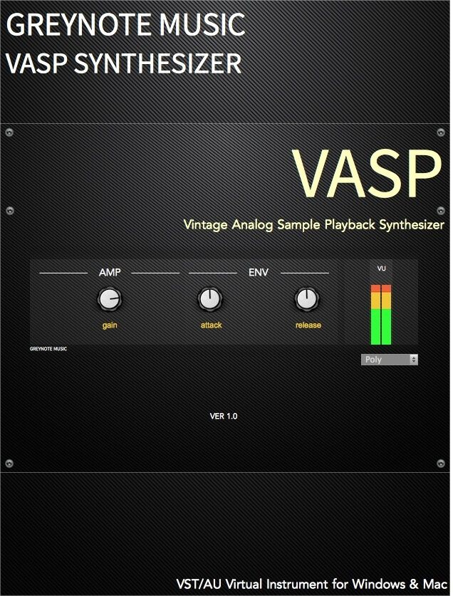 Greynote VASP vintage analog synth rompler plugin released