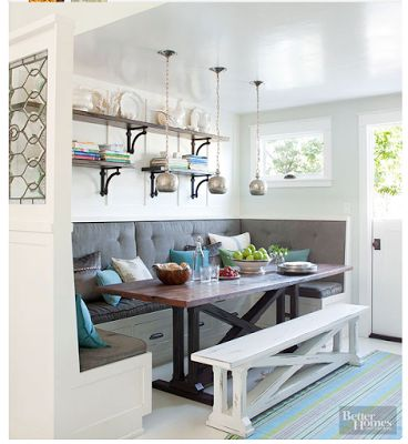 creative juices decor have you ever wanted a kitchen booth eating nook - Booth Kitchen Tables
