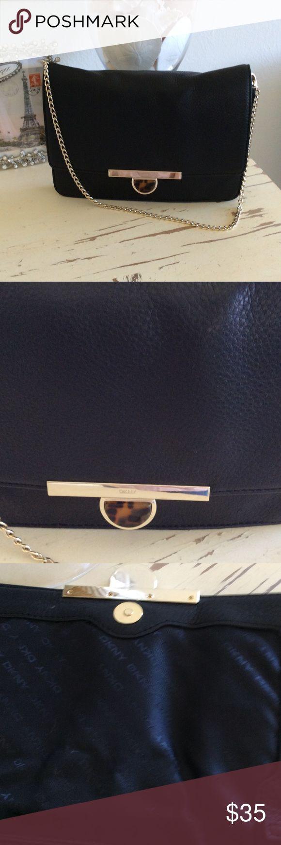 Selling this DKNY leather clutch on Poshmark! My username is: heatherg2017. #shopmycloset #poshmark #fashion #shopping #style #forsale #DKNY #Handbags