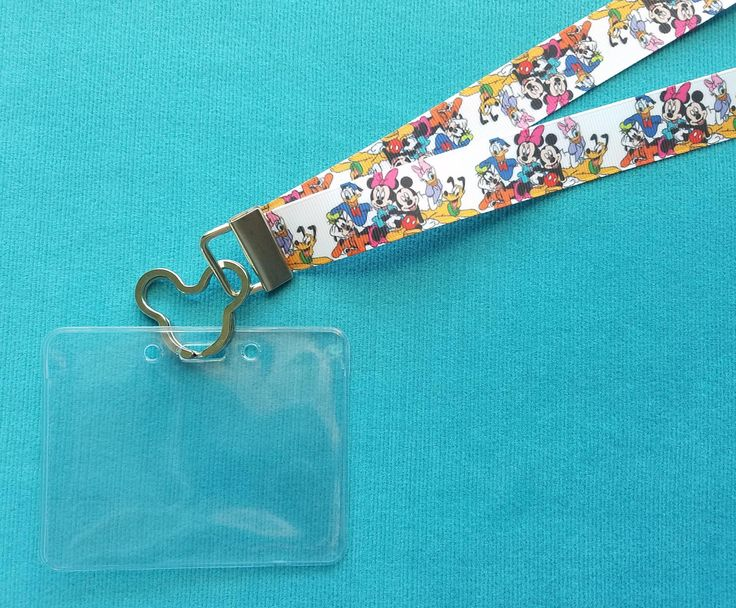 Disney KTTW Card Holder/Lanyard - Fab Five Plus One - Non-scratchy - Child or Adult