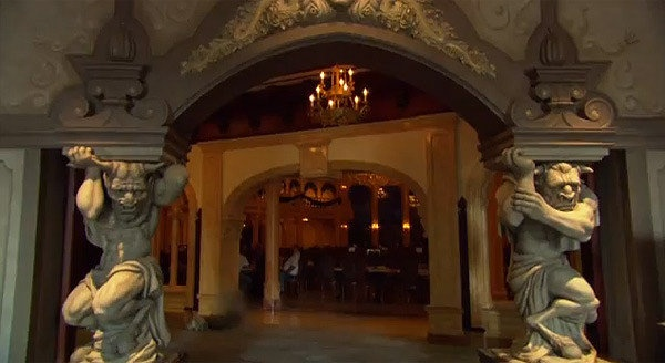 the be our guest restaurant inside beast 39 s castle in the beauty and the beast inspired section. Black Bedroom Furniture Sets. Home Design Ideas