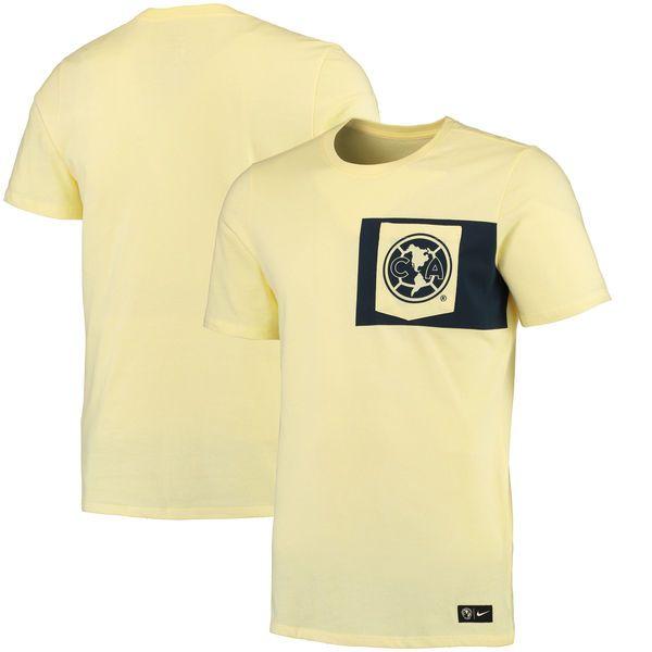 Club America Nike Team Crest T-Shirt - Yellow - $29.99