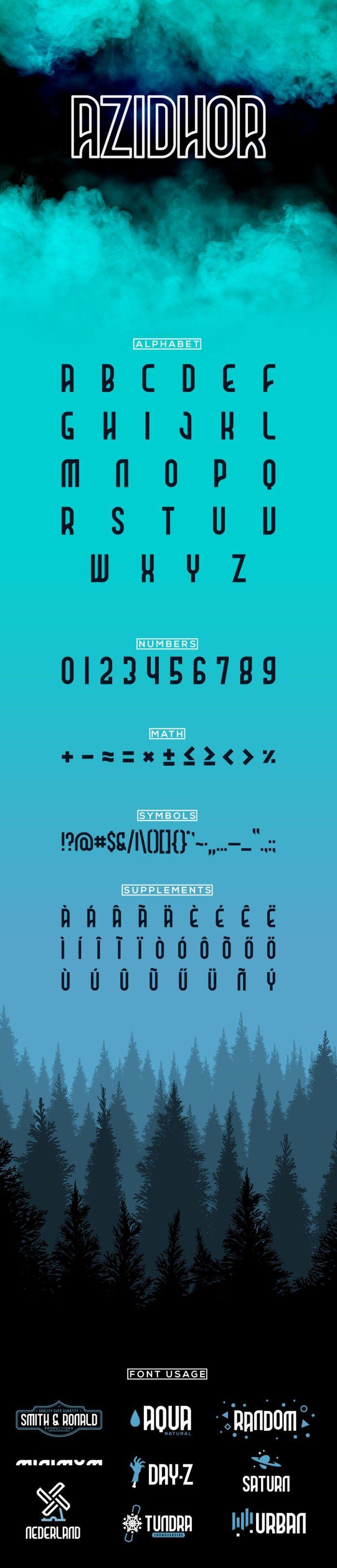 Azidhor Display Font Free