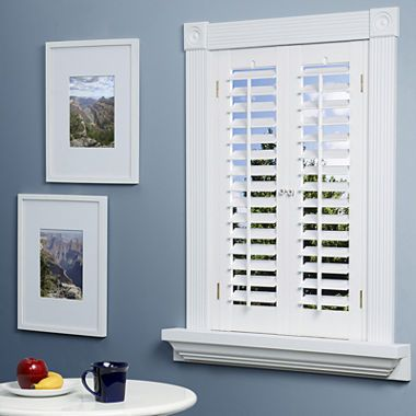 jcpenney.com | JCPenney Home™ Faux-Wood Plantation Shutters - 2 Panels