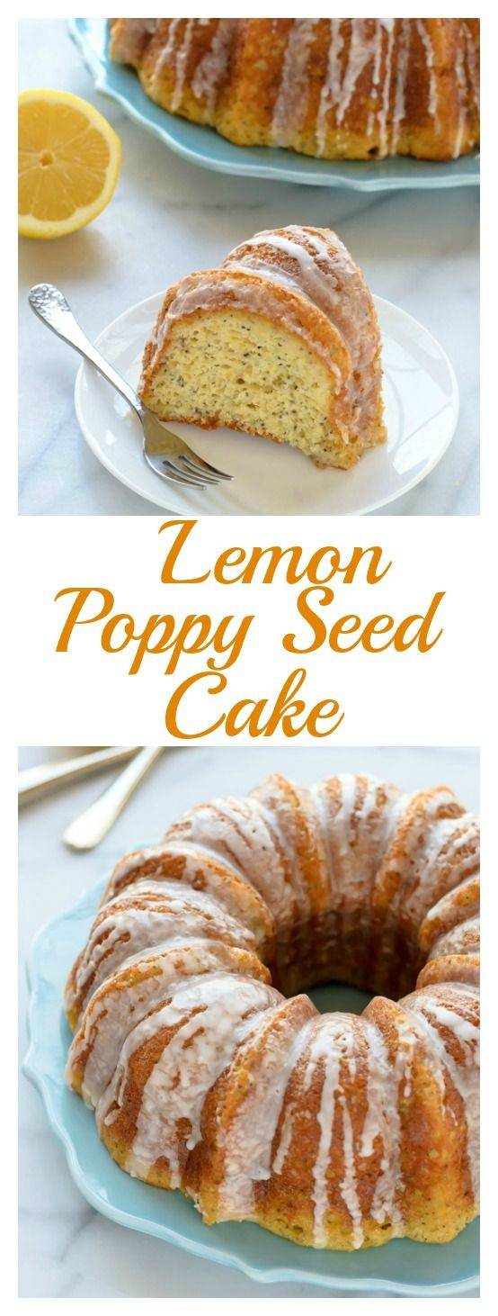 A recipe for moist and fluffy Lemon Poppy Seed Cake, baked in a bundt pan and topped with creamy lemon glaze. Made with Greek and whole wheat flour.