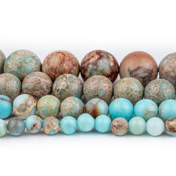"Colorful Sea Sediment Jasper Gemstone Oval Beads For Jewelry Making Strand 15/"""