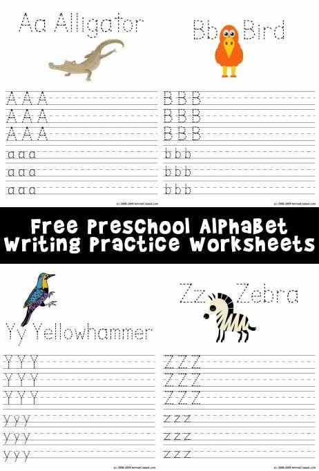 Free Preschool Alphabet Writing Practice Worksheets