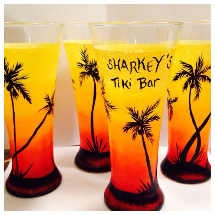 Tropical Beer Glasses  https://www.etsy.com/shop/buttonwoodboutique