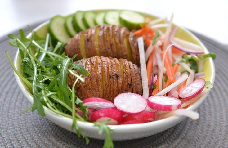 Печёный картофель Хассельбек