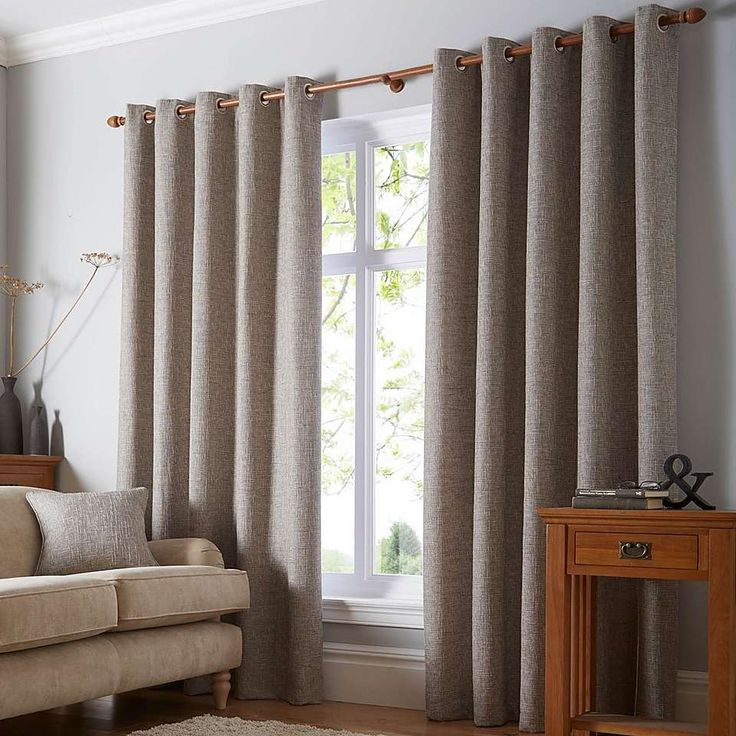 Thornton Grey Eyelet Curtains   Dunelm