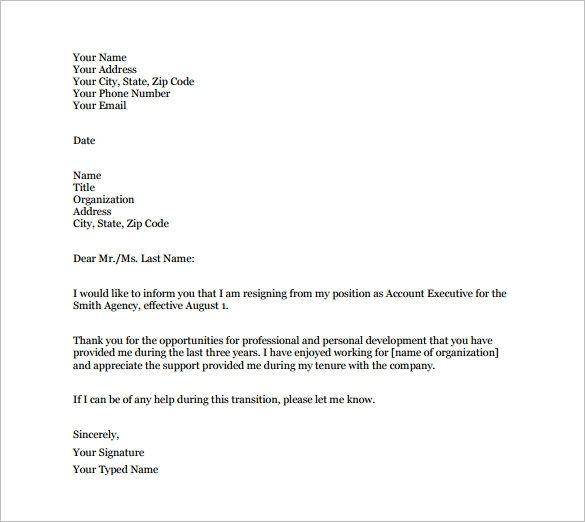 Ponad 25 najlepszych pomysłów na Pintereście na temat Professional - resignation letter template word