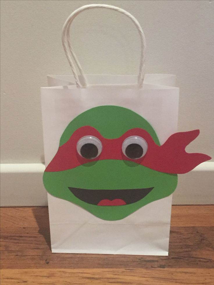 Ninja Turtle Party bag Made by Mandy Clouten
