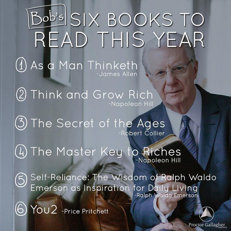 Here is my list of 6 books to read this year. (No particular order.)  #BobProctor