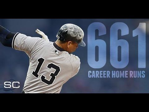 Alex Rodriguez  passes Mays with Home run NO.661