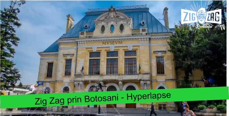 """Zig Zag prin Botosani - Hyperlapse  Unii îl numesc ''Orașul domnițelor"""". Alții, îl cunosc prin cei patru titani ai culturii: Iorga, Luchian,Eminescu și Enescu. Noi, îl ținem minte prin verdeață, oameni calzi, primitori și îl numim simplu: Botoșani!"""