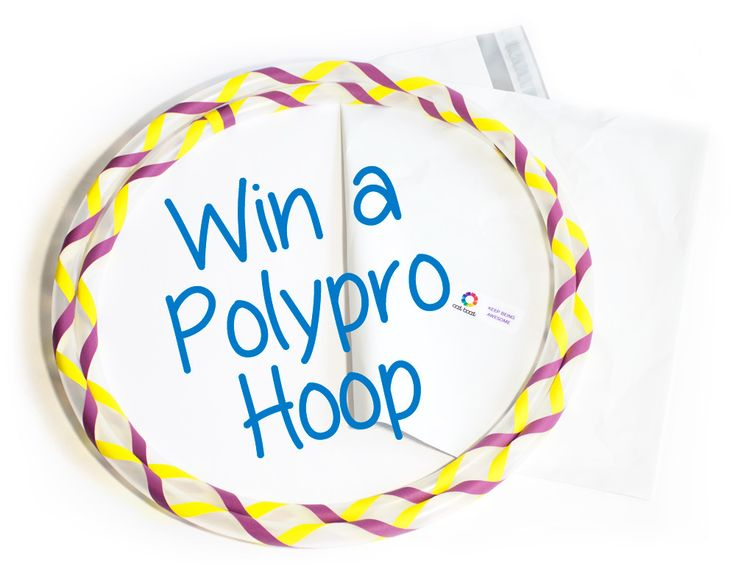 Win a Polypro Hoop by OodiBoodi.ca Here is how: 1) Like us on Facebook 2) Share this post 3) Tell us your favourite move and hoop song, in the post.