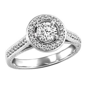 14KT White gold 0.75 ctw Glacier Ice Canadian diamond engagement ring. RIN-LCA-2798