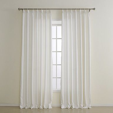 (Two Panels) Classic Faux Silk Energy Saving Curtain – USD $ 59.99
