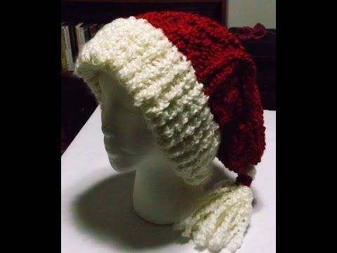 Video-How to Loom Knit a Cabled Santa Hat - YouTube
